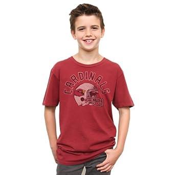 NFL Arizona Cardinals Youth Kickoff Crew T-Shirt, Small by Junk Food