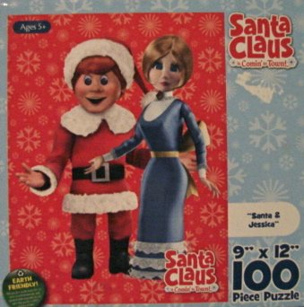 100pc. Santa Claus is Comin' to Town-Santa and Jessica Puzzle