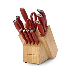 KitchenAid Classic 12-Piece Cutlery Set, Red
