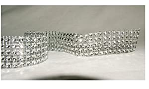 Diamante Effect Ribbon (5 rows) 2m x 25mm - Bridal Weddings Cake Occasions by Friller UK Ltd.