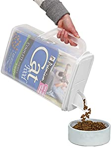 Buddeez Dispenser for Pet Food and Bird Seed (Combo: 8qt & 32qt)