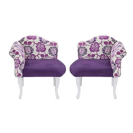 Nuovo Designer stile chaise longue poltrona Bergere sedia Set di 2 Queen Double Chair