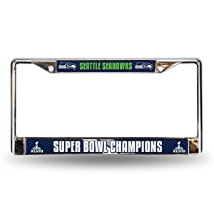 NFL 2014 Super Bowl XLVIII Champion Chrome Auto Frame