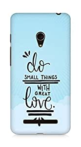 AMEZ do great things with love Back Cover For Asus Zenfone 5