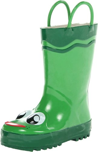 Western Chief Kids Frog Rain Boot(Toddler/Little Kid/Big Kid),Green,5 M US Toddler (Kid Rain Boots compare prices)