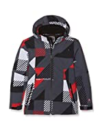 Peak Mountain Chaqueta Soft Shell Ecover (Negro / Rojo)