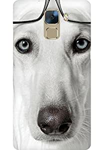 AMEZ designer printed 3d premium high quality back case cover for Huawei Honor 7 (nerdy dog)