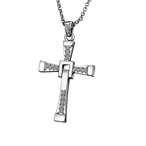 FosFun DTC-02 Fast and the Furious Dominic Toretto's Cross Pendant Chain Necklace