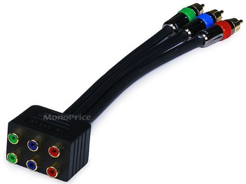 PREMIUM 3-RCA RGB RG-6/u Component Video Splitter