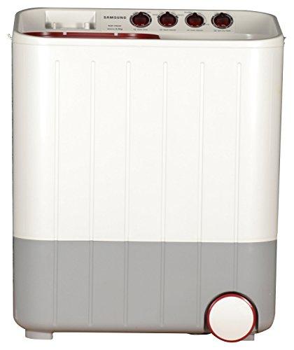 Samsung WT657QPNDPGXTL Semi-automatic Twin-tub Washing Machine (6.5 kg, White and Maroon)