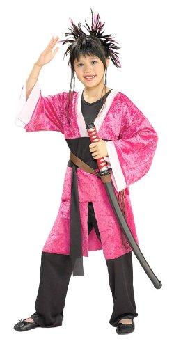 [Girls Pink Samurai Costume - Child Large] (Girls Pink Samurai Costumes)