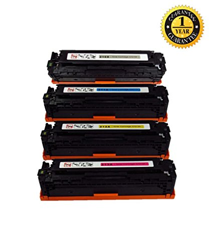 INK E-SALE Compatible Toner Cartridge Replacement for CF210A CF211A CF212A CF213A/131A with HP LaserJet Pro 200 color M251nw, MFP M276nw Printers (Black/Cyan/Magenta/Yellow) 4 Pack