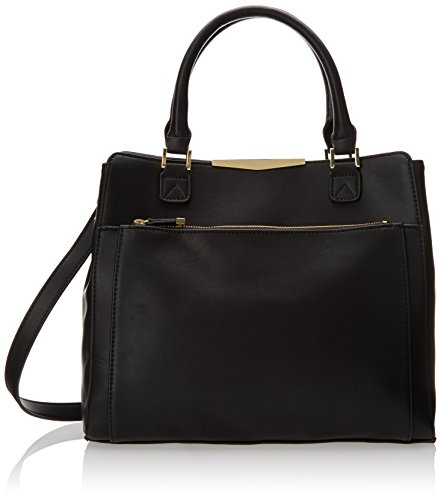 Danielle Nicole Lexie Satchel Top Handle Bag,Black Combo,One Size