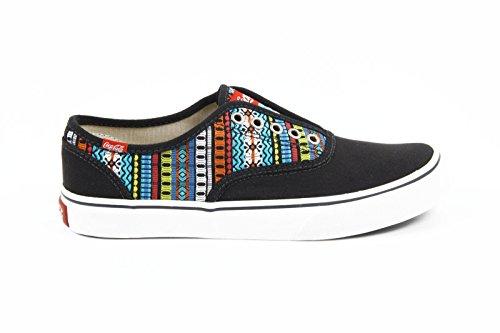 sneakers donna Coca Cola ladies sneakers cca0713 kick etnic black -- 38 eur - 8 us