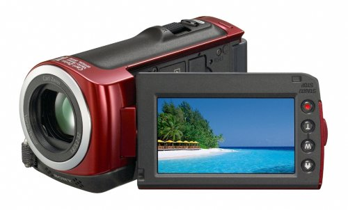 Sony HDR-CX100 ACVHDHD Camcorder with Smile Shutter & 10x Optical Zoom (Red)