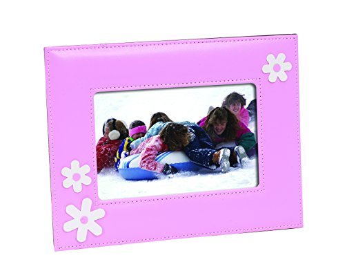 Luxury Leather Picture Frame 4 X 6 , 5 x 7 (Pink with Flowers, 4 by 6) (Leather Picture Frame 5x7 compare prices)