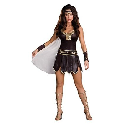 Babe-A-Lonian Warrior Queen Costume - Small - Dress Size 2-6