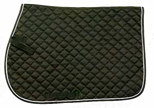 RED WHITE Square Quilted Cotton Comfort Saddle Pad