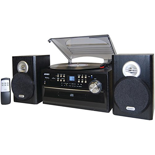 Jensen JTA475B 3-Speed Turntable with CD, AM/FM Stereo Radio, Cassette and Remote (Turntable Am Fm compare prices)
