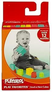 Playskool - Juego de cubos y barriles encajables (Hasbro 45620927) en BebeHogar.com