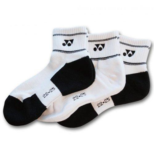 Yonex 8423 - Confezione da 3 paia di calzini sportivi, misura 44-47