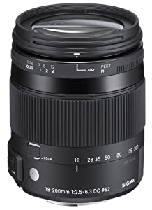 Sigma 18-200mm F3,5-6,3 DC Makro OS HSM Objektiv (Filtergewinde 62mm) für Sigma Objektivbajonett