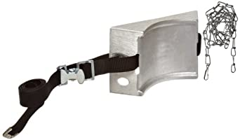 """Talboys 717 Aluminum Cylinder Wall Bracket with Strap and Chain, 1.875"""" Length x 8.125"""" Width x 4.625"""" Height"""