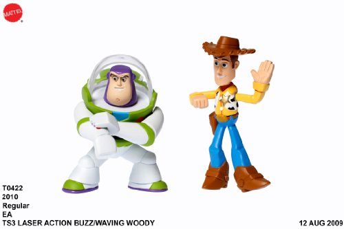Toy Story 3 Action Links Buddy Pack Waving Woody and Laser Buzz Lightyear - 1
