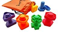 Jumbo Nuts and Bolts Set with Tote 12 Pc – Occupational Therapy – Matching Fine Motor Toy for…