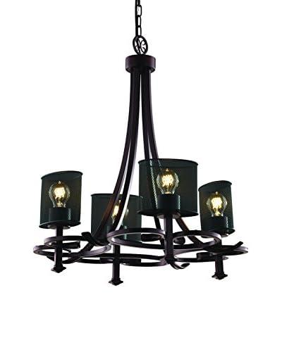 Justice Design Group Arcadia 4-Light Uplight Chandelier, Dark Bronze