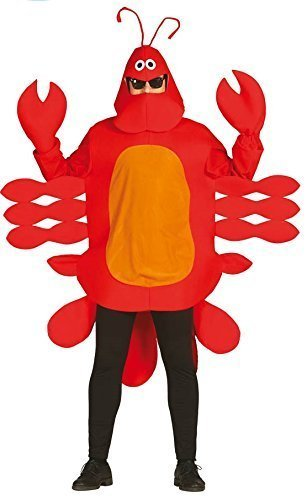 mens-ladies-red-lobster-crab-beach-sea-animal-fancy-dress-costume-outfit-size-large