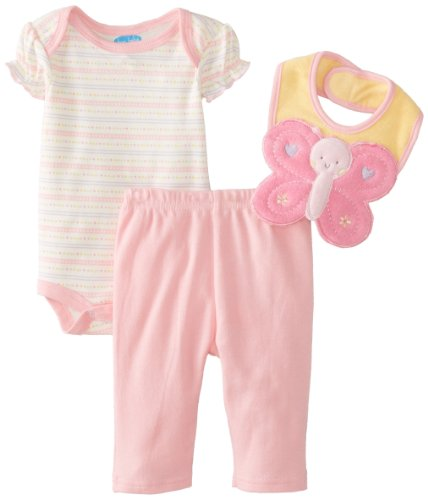 Bon Bebe Baby-Girls Newborn Butterfly Bib Bodysuit And Legging Set, Multi, 3-6 Months front-1070640