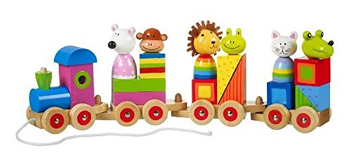 Orange Tree Toys Animal Puzzle Train - 1