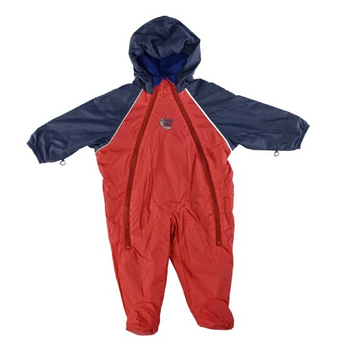 Bushbaby Hot Tot Snow Suit. Red/Navy - 0-6mths