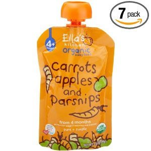 Ella's Kitchen Organic Baby Food Carrots, Apples and Parsnips (4+Months), 3.5-Ounce Pouches (Pack of 7)