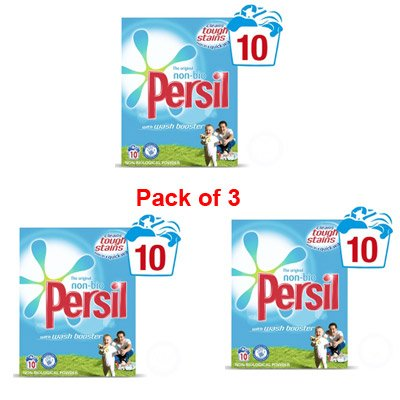 Persil Non Bio Powder 10 wash Pack of 3 - 853290 x 3 - packaging may vary
