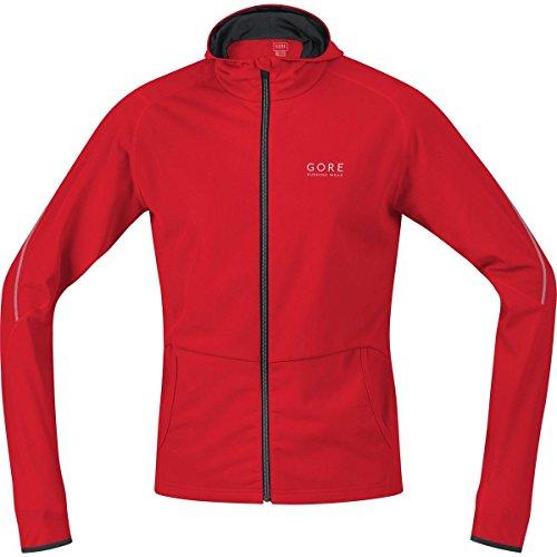 Gore Running Wear Essential - Sudadera con cremallera para hombre, color rojo / negro, talla S