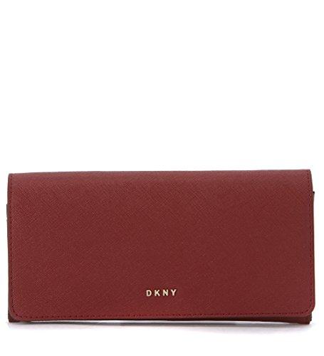 Portafoglio DKNY in pelle rosso scarlet