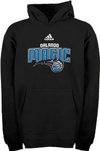 Orlando Magic adidas Youth Black Primary Logo Hooded Sweatshirt by adidas