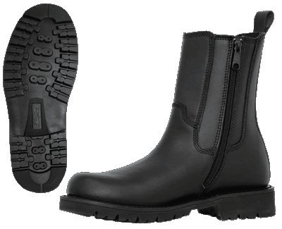 Mens Side Zipper Leather Motorcycle Boots- Leatherbull (Free U.S. Shipping) (8.5wide)