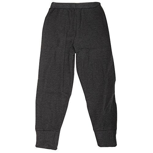 Boys Thermal Clothing Long Johns Polyviscose Range (British Made) (Age: 3-5, Hip: 20.5 inch) (Charcoal)