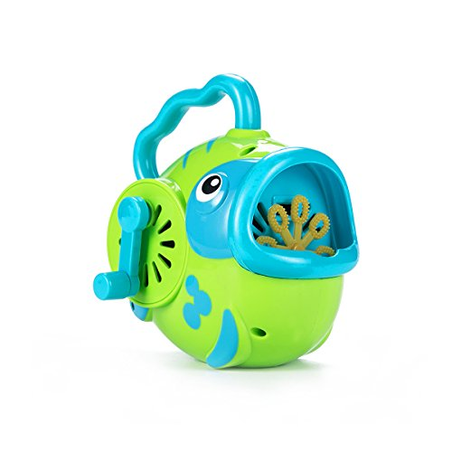 ToyerBee Bubble Hurricane Machine in Fish Shape for Kids Hand-Operated Toy Bubble Maker for Toddlers( Not Include Bubble Solution) , Random Colors (Summer Bubble Maker compare prices)