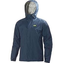 Helly Hansen Men\'s Loke Rain Jacket, Deep Steel, Small