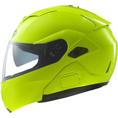 HJC Hi-Viz Men&#8217;s Sy-Max III Street Racing Motorcycle Helmet &#8211; Hi-Visibility Yellow / Medium