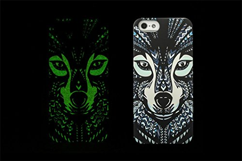 Borch Fashion Luminous Series the King of Beasts Deep Forest Phone Protective Shell for Iphone 5 5s New Cell Phone Case (style 3)