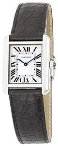 Cartier Women's W5200005 Tank Solo Leather Strap Watch by Cornerwind Media