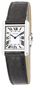 Cartier Women's W5200005 Tank Solo Leather Strap Watch