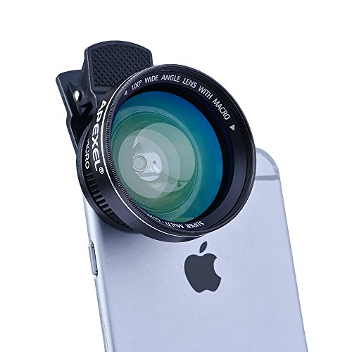 Apexel-2-in-1-Clip-on-100-Degree-HD-Wide-Angle-Lens-with-37mm-Thread-125X-Macro-Lens-for-IOS-Android-Smartphones-and-Pro-Cameras-No-Dark-Circle-No-Distortion