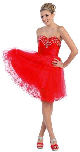 Us Fairytailes Women's Strapless Beaded Dress