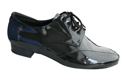 HenryG Mens Standard Ballroom Dance Shoes, Men's Patent Leather Dance Shoes, Men Latin Salsa Dance Shoes HGB-3212